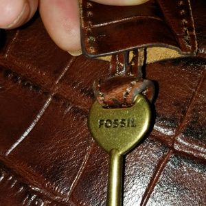 Flawless Genuine Embossed Leather FOSSIL